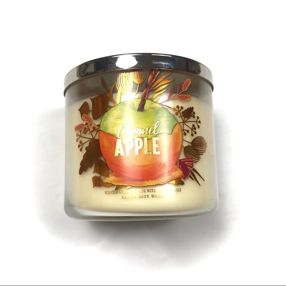 Bath & Body Works Caramel Apple 3 Wick Candle